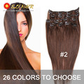 Clip In Human Hair Extensions 70g 120g Clip In Hair Extensions 14 24inch Brazilian Straight Human