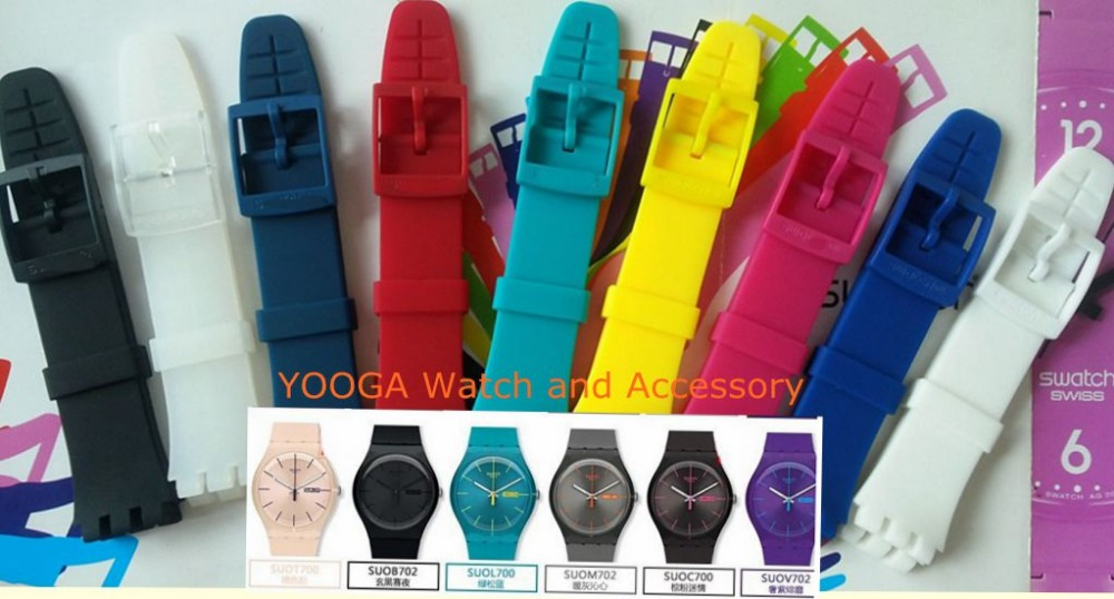 Original quality With Colorful Clasp High Grade Silicone Strap for SWATCH Suov703 SUO109 SUOZ164