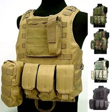Waterproof USMC Ciras Tactical Vest colete Airsoft Tactical Military Molle Soft Body Armor Plates Carrier Vest Military Uniform()
