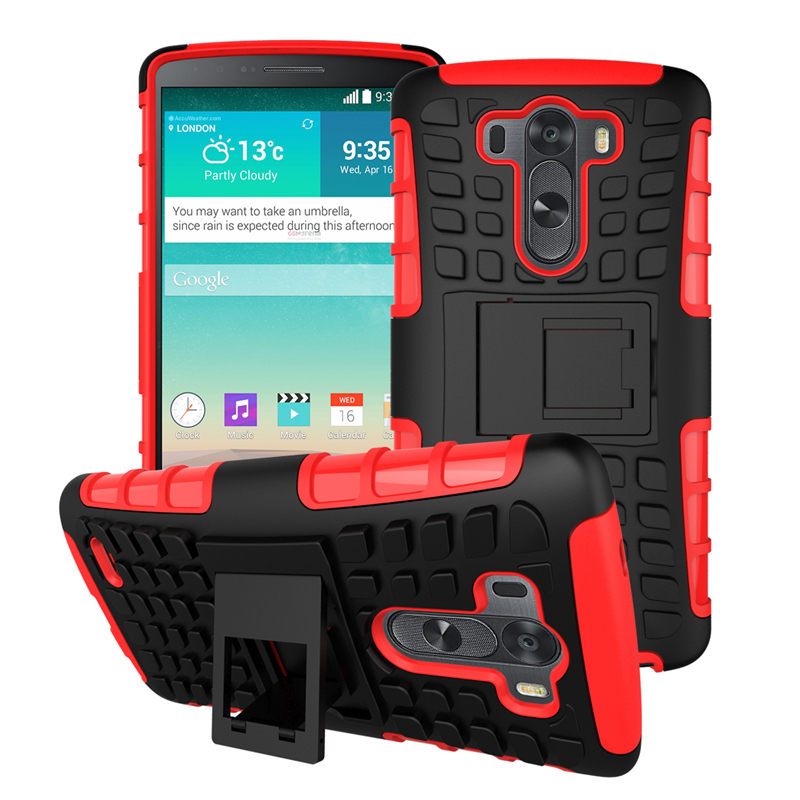 LG G3 / LGG3 D855 D850 optimus Case Heavy Duty Armor Shockproof Hard PC Plastic & Soft TPU Silicone Stand back Cover