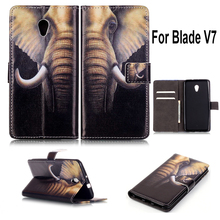 Nice Printed Luxury PU leather Wallet Flip case cover ZTE Blade V7 mobile phone bag stand function & card holder - Lovely Lady Shop store