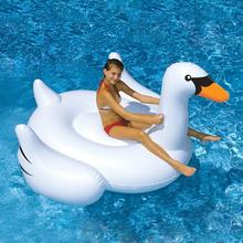 Inflatable Swimming Pool Float Summer Lake Swimming Lounge Pool Kid Giant Rideable White Inflatable Swan for Pool Toy Float Raft