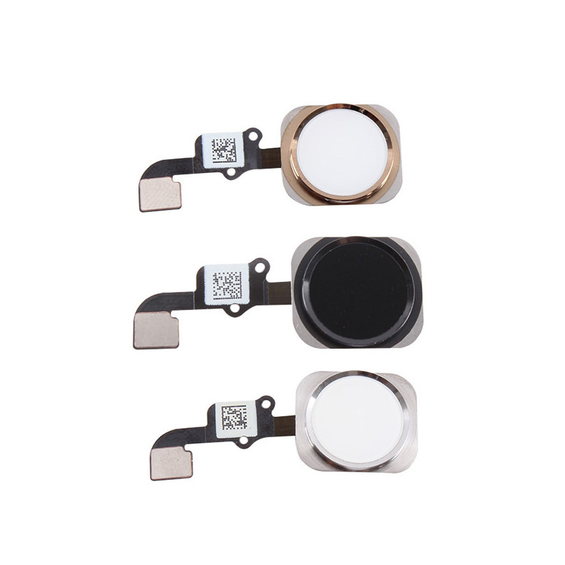 Brand New Home Button Flex Cable Touch ID Key Cap Sensor Ribbon Complete Assembly Gasket Spare Parts Replacement For iPhone 6S(China (Mainland))