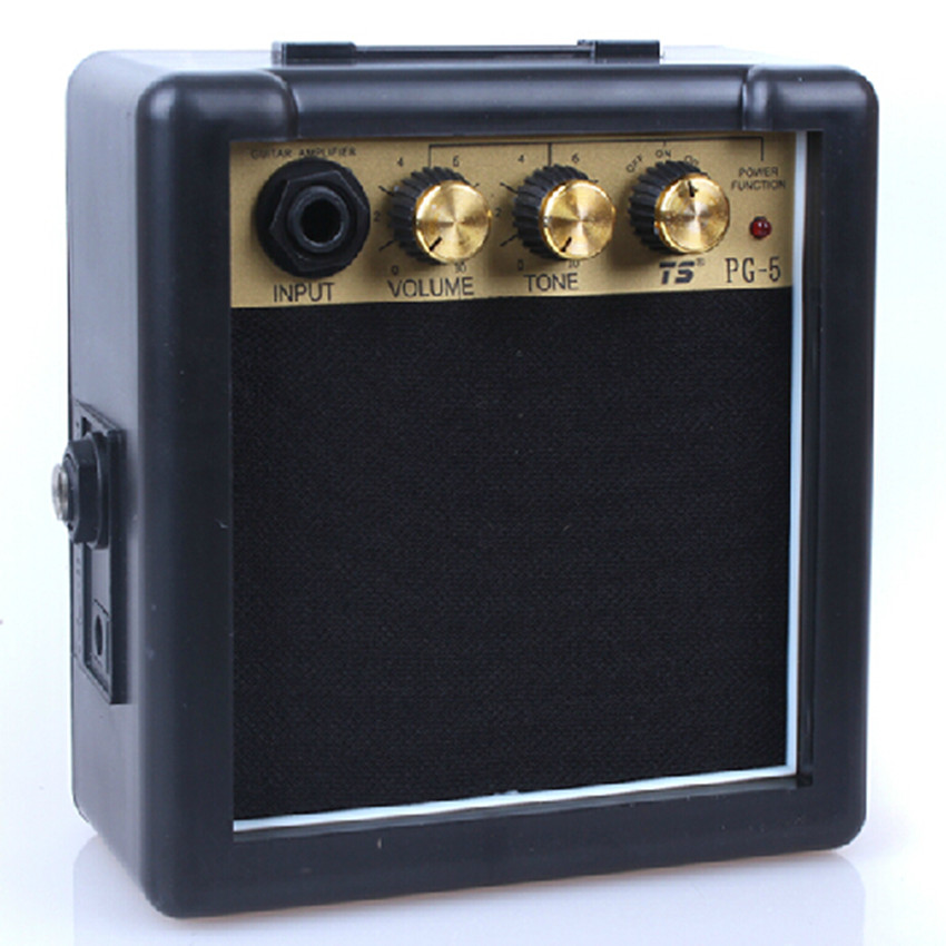 5W Mini Electric Guitar Amp Amplifier Distortion Guitar Speaker Durable High-sensitivity(China (Mainland))