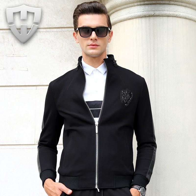2016 Men New Style Fashion Luxury Jacket Coats Men Casual Jacket Men Windbreak Jackets Outwear(China (Mainland))