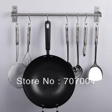 Multi-function 304 stainless steel kitchen & bathroom accessories hanger towel bar tableware cloth hooks storage shelf(China (Mainland))