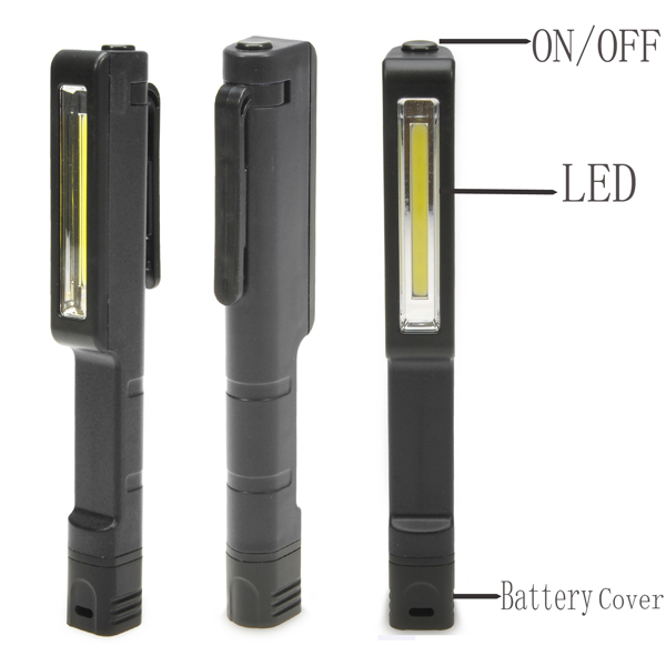 Bright Mini LED Inspection Light Lamp Pen Shape Pocket Clip Work Hand Torch Flashlight(China (Mainland))