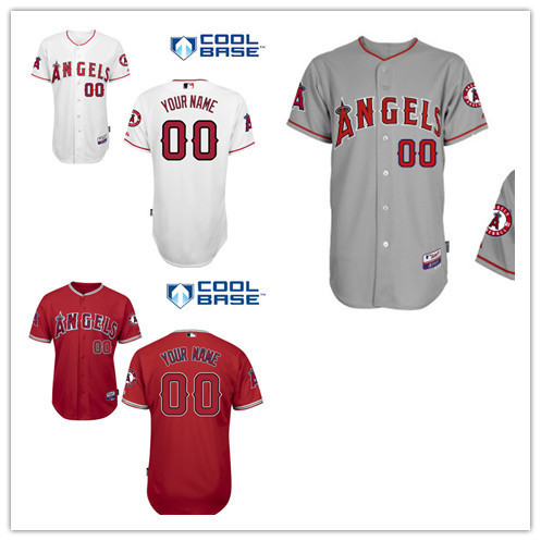 2015 New Los Angeles Angels of Anaheim Personalized Home Jersey  Customized Baseball Jersey Top Quality  Mix Order FreeShipping<br><br>Aliexpress