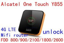 Desbloquear Y855 4 G LTE router mifi wiFi 150 Mbps Alcatel One Touch Y855 4 G wi fi dongle LTE 4 G 3 G mobile hotspot pk y800 760 s 762 s