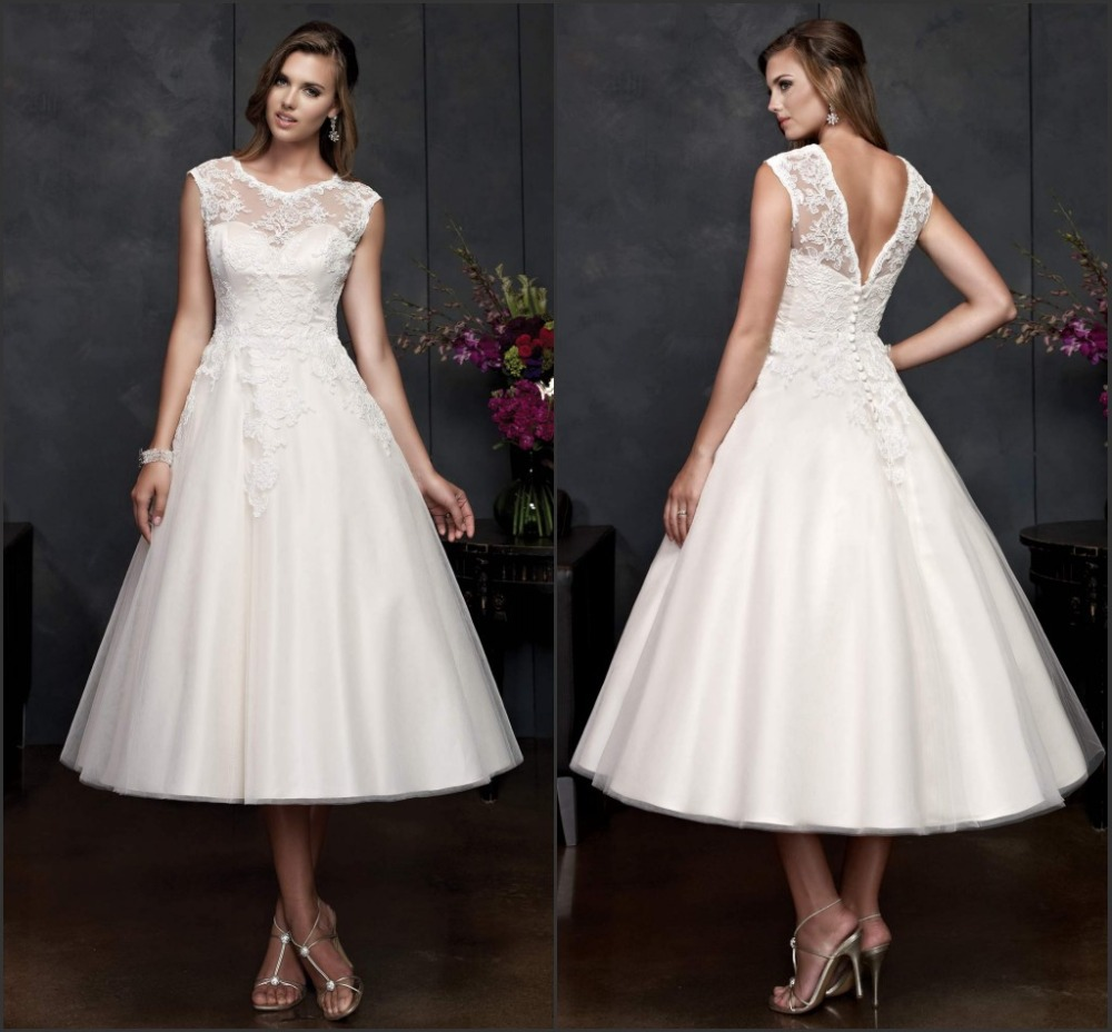 Mid Length Dress For Wedding Popular Mid Length Wedding Dresses Buy Cheap Mid Length