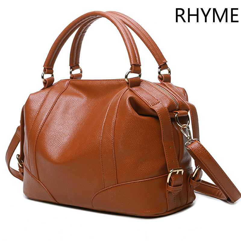 RHYME Soft Leather Handbags Big Women Bag Zipper Ladies Shoulder Bag Girl Hobos Bags New Arrivals Bolsa Feminina(China (Mainland))