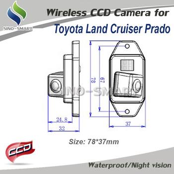 "Rear view camera CCD 1/3"" car Parking camera For Toyota Land Cruiser prado 2007/2008/2009/2010 night vision waterproof camera"