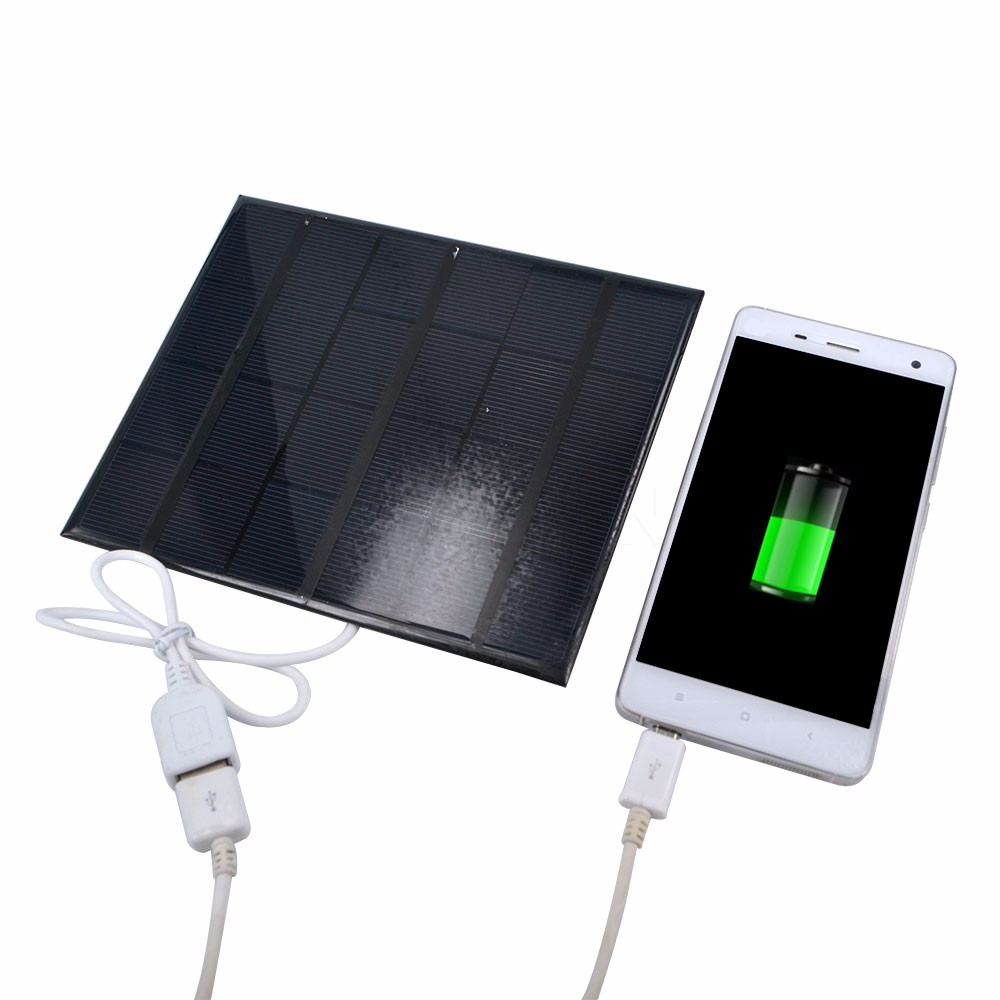 2016 Portable 6v 3.5w 580-600MA Solar Panel USB Travel Battery Charger For iPhone 4 4s 5 5s 6 Mobile Phone USB Multimedia