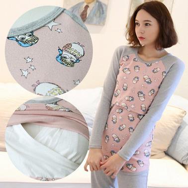 2016 spring and Autumn New Korean maternity lactation clothes women breast font b feeding b font