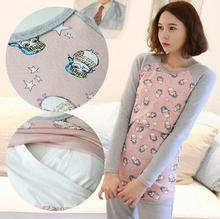 2016 spring and Autumn New Korean maternity lactation clothes women breast feeding long sleeved T-shirt SH-0189