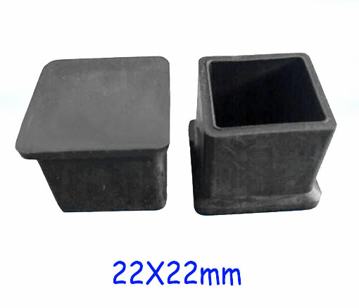 22X22mm PVC chair pad furniture feet cover floor protector square tube pipe plastic cap,flexible soft inserting pipe ending(China (Mainland))