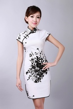 2015 Vintage Style Chinese Women's Tradition Mini Qipao Short Cheongsam Dress Tang's Suit S TO XXL D0174A(China (Mainland))