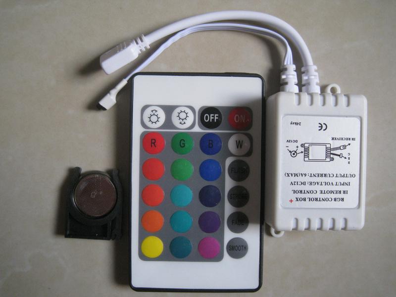 DC12V 24 Keys IR Remote Controller for LED strip 3528 5050 RGB lights Mini Controller<br><br>Aliexpress
