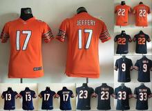 All stitched Youth Chicago Bears Kids children 13 Kevin White 17 Alshon Jeffery 89 Mike Ditka #33 22 Matt Forte(China (Mainland))
