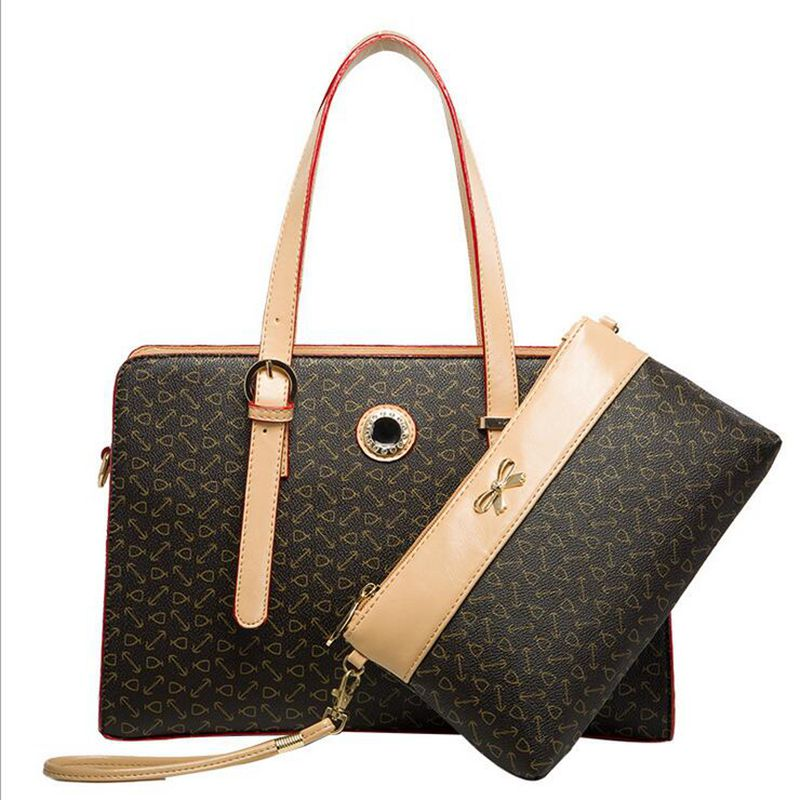 sell well 2015 new Senior PVC material Shoulder Bags handbag set Waterproof fire Advanced Luggage & Bags women bag is bag(China (Mainland))