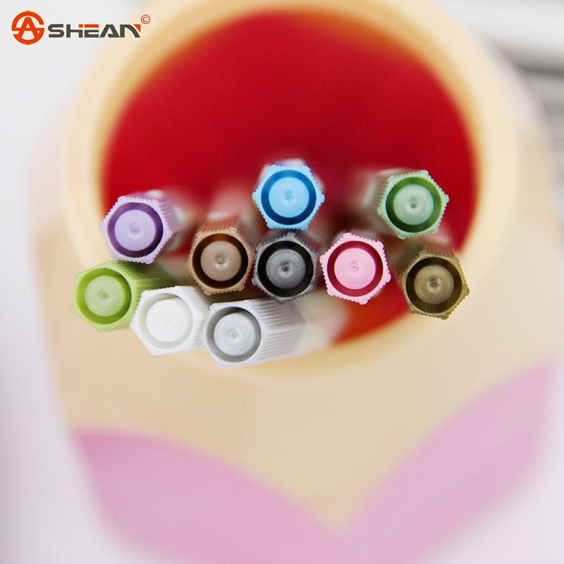 1pcs Kawaii Water Chalk Pen Watercolor Paintbrush Office Art Supplies10 Color Available
