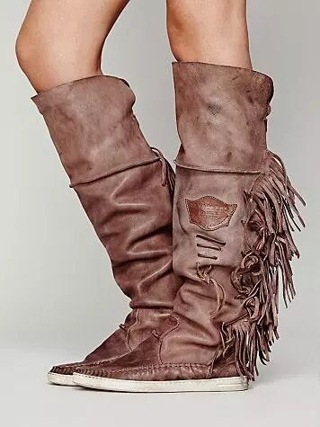 2015 New Arrival Fashion Tassel Fringe Flats Women Boots Nubuck Top Quality Leather Knee High Boots Round Toe Women Shoes<br><br>Aliexpress