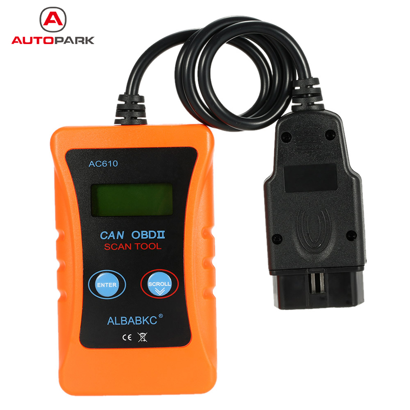 Hot Sale ALBABKC AC610 OBD OBDII Auto Car Diagnostic Scan Tool Code Reader Scanner for Audi VW Volkswagen Car Scanner(China (Mainland))