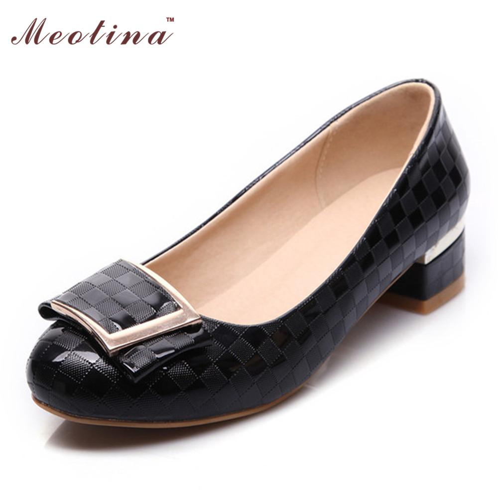 Low Chunky Heel Shoes