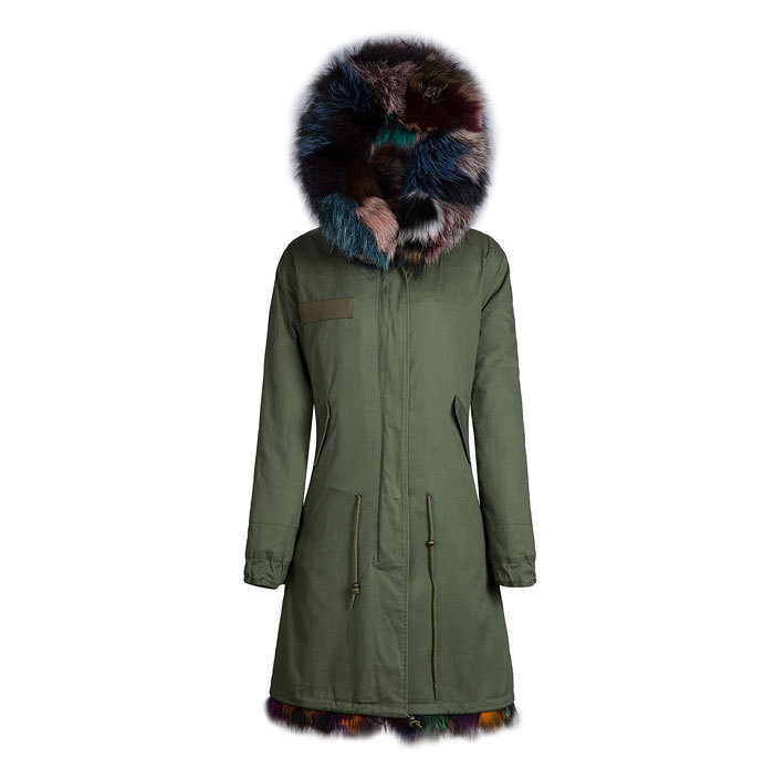 Colorful fur winter parka Male hotsale Mr fox - foxfurs store