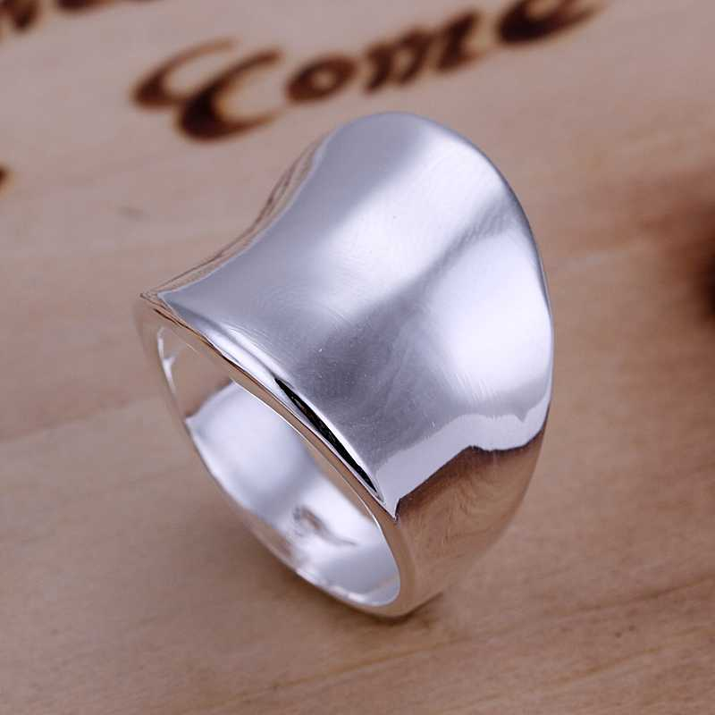 New 2015 silver plated rings women Thumb Plate anillos to.us bear bijouterie - Spring fashion Jewelry Co.,Ltd store