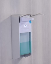 Wall mounted Elbow hand sanitizer soap dispenser used in hospital For Commercial Cleaning Equipment(China (Mainland))