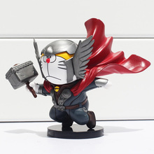 Anime Cosplay Thor With Hammer PVC Figure Model Toy 4″10cm