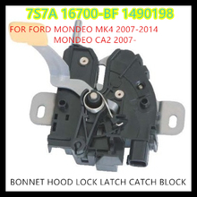 free shipping BONNET HOOD LOCK LATCH CATCH BLOCK for  FORD MONDEO MK4 2007-2014 MONDEO CA2 2007-   1490198   7S7A-16700-BF(China (Mainland))
