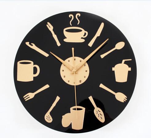 Modern design europe kitchen style clocks wall clock gold for Maison du monde orologi parete