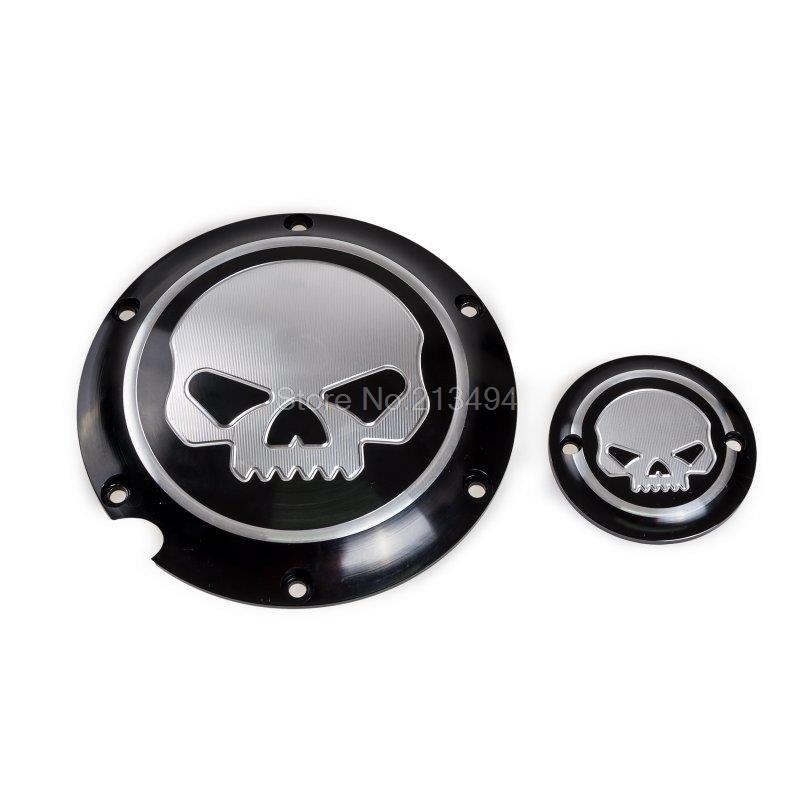 Novelty Black Skull Custom Derby Timer Cover Skull For Harley Davidson SuperLow 1200T XL1200 Wholesale<br><br>Aliexpress