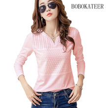 Buy BOBOKATEER cotton embroidery blouse white top long sleeve women blouses 2017 casual shirt womens tops blusas mujer chemise femme for $11.45 in AliExpress store
