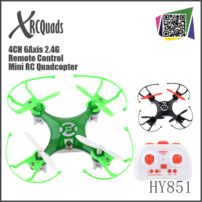 Nano quadcopter kit 2.4G Remote Control Toys 4CH 6Axis Mini RC Quad copter electronic toys classic outdoor rc helicopters HY851(China (Mainland))