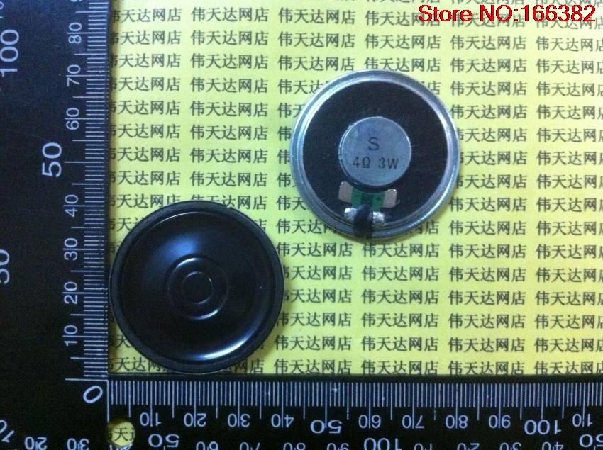 4PCS Mobile DVD / EVD small speakers 4R3W 3 watts 4R / 4 European diameter 40MM 4cm thickness 5.3MM flat film(China (Mainland))