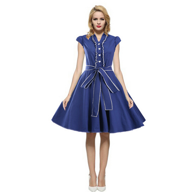 1Pc European Style Women Summer Dress Vintage Halter Ball Gown Short Puff Sleeve Dress with Sash Freeshipoping D09(China (Mainland))