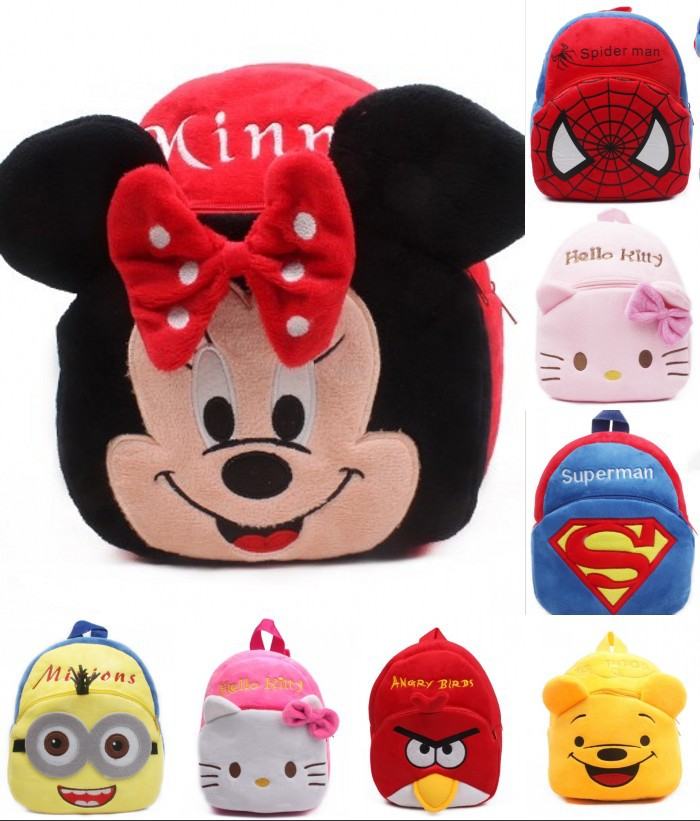 In Stock! Boys Girls Dolls Bags, Little kid animal cartoon school backpacks children gift RETAIL(China (Mainland))