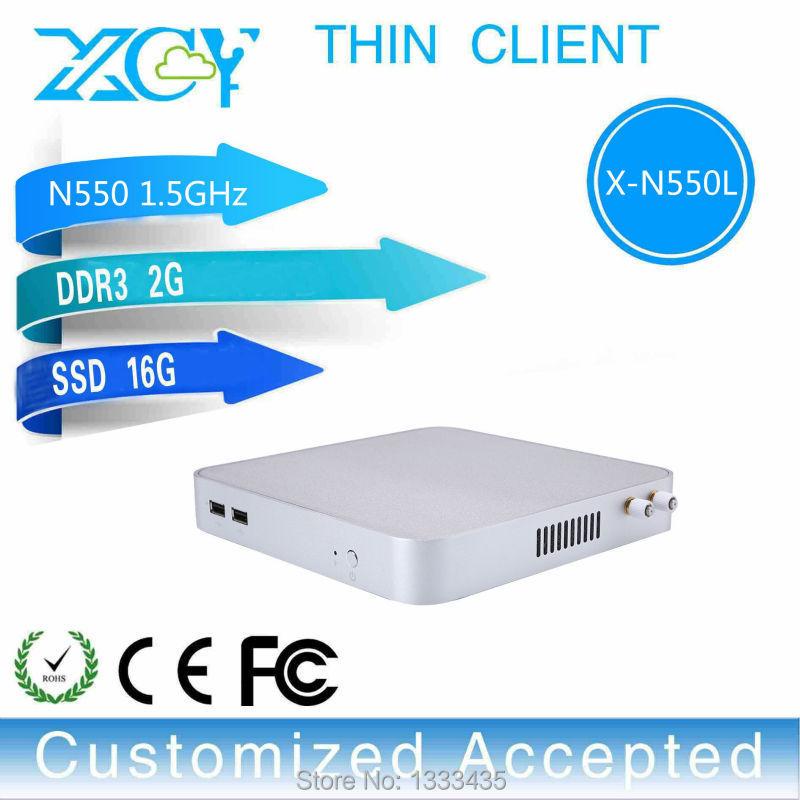 Высокая производительность Процессор Intel N550, 2 Гб оперативной памяти 16 Гб SSD компьютерные аксессуары безвентиляторный офисный компьютер поддерживает Win 7 XP система
