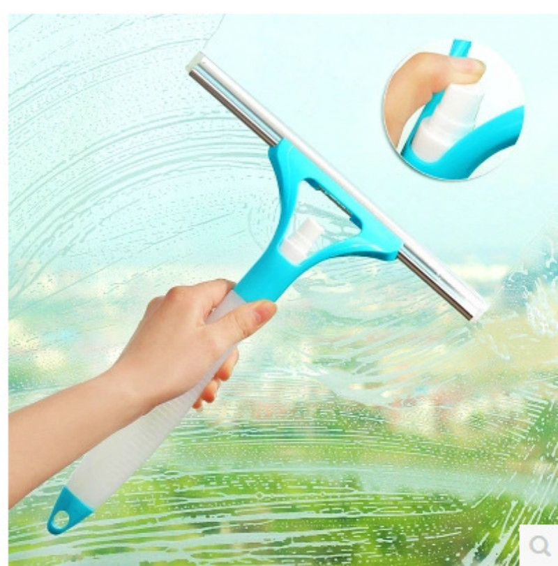 Multi-function Integral type Water spray glass Cleaning Blade Window cleaner Ceramic tile floor brush Convenient and quick-lq(China (Mainland))
