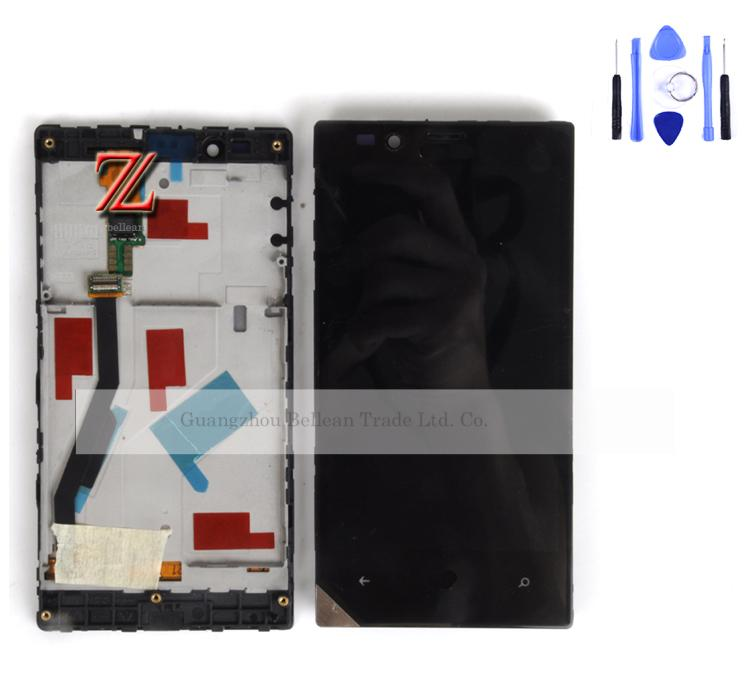 Replacement For Nokia Lumia 720 LCD Display Touch Screen Digitizer with Bezel Frame Full Assembly 1pcs Free shipping China post(China (Mainland))