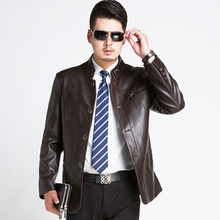 New 2015 Winter Leather Jacket, Winter Clothes Fashion warm Man Slim Fit leather jackets, high quality parka(China (Mainland))