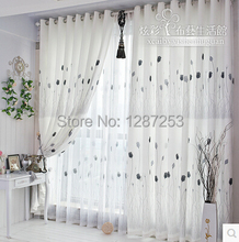 White floral curtain for living room window curtains for bedding room curtain fabric cortina pano home decoration(China (Mainland))