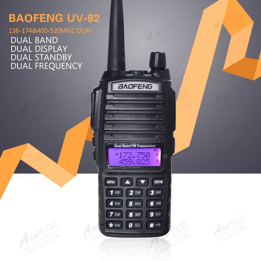 BaoFeng UV-82 Walkie Talkie Dual-Band 136-174/400-520 MHz FM Ham Two Way Radio Transceiver Earpiece - Aiomall Store store