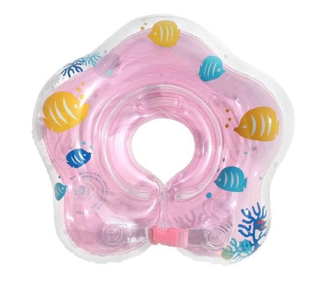 Новый ребенка плавать помощь поплавки шеи воротник надувная кольцо для младенцев ...