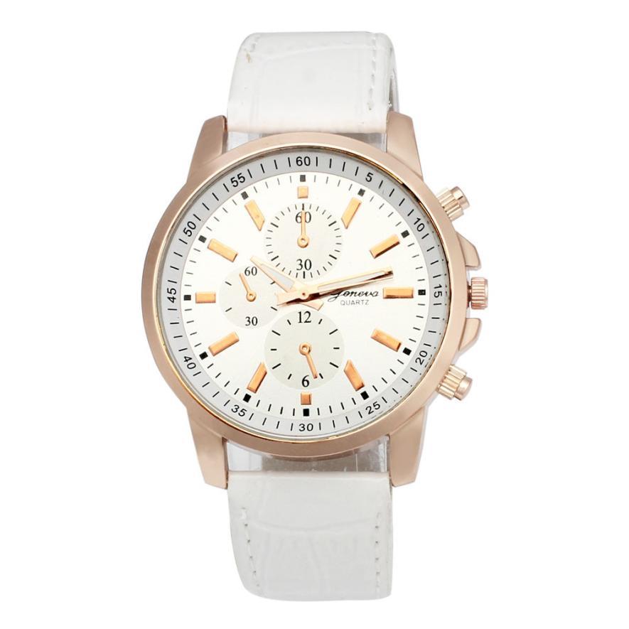 Hot Marketing 2016 Fashion Geneva Leather Analog Dial Quartz Sport Wrist Watch  F03<br><br>Aliexpress