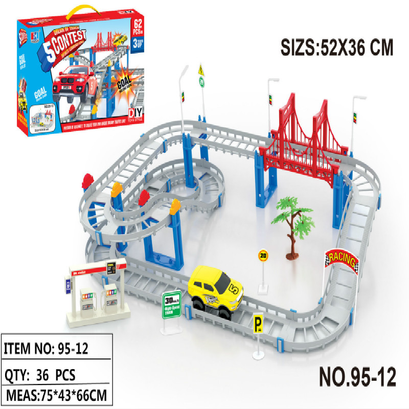 New Arrival 95-12 Children Plastic Toy Car Electric Model Wholesale Stall Car Model Truck 62 Sets Thomas And Friends Set gift(China (Mainland))