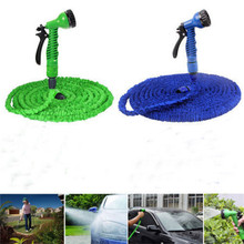 NEW Functional 75FT Green Snake Flexible Garden Water Hose+7 Mode Spray Gun Car Wash Pipe Telescopic Universal Nozzle H0895J2(China (Mainland))